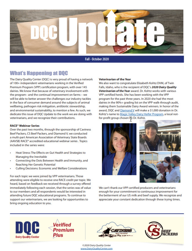 2020 Fall Newsletter